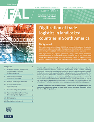 Digitization of trade logistics in landlocked countries in South America