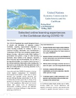 Selected online learning experiences in the Caribbean during COVID-19. Policy Brief