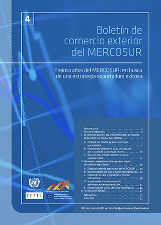 Boletín de Comercio Exterior del MERCOSUR Nº 4. Treinta años del MERCOSUR: en busca de una estrategia exportadora exitosa