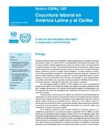 Coyuntura laboral en América Latina y el Caribe: crisis en los mercados laborales y respuestas contracíclicas