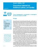 Coyuntura laboral en América Latina y el Caribe: crisis, estabilización y reactivación. El desempeño del mercado laboral en 2009