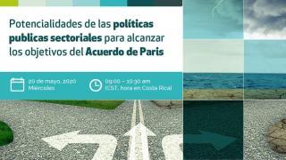 """Webinar para practitioners de América Latina y el Caribe: """"Potencialidades de las políticas publicas sectoriales para alcanzar los objetivos del Acuerdo de Paris"""""""