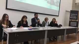 Foto inauguración curso gobierno abierto en Ecuador