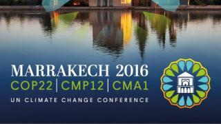 Banner de la COP 22.