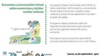 Encuentro y conversación virtual sobre Ecoturismo y Tejidos rurales-urbanos