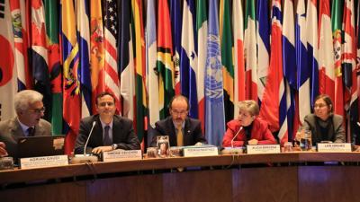 """Alicia Bárcena en la inauguración de la Reunión Interregional del Grupo de Expertos """"Priorizando la igualdad en la Agenda 2030""""."""