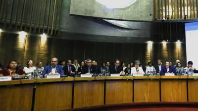 Foto del panel de inauguración del Conversatorio.