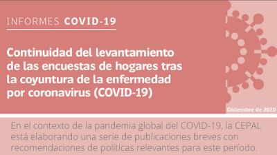 Continuidad del levantamiento de las encuestas de hogares tras la coyuntura de la enfermedad por coronavirus (COVID-19)