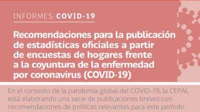 Banner Recomendaciones para la publicación de estadísticas oficiales a partir de encuestas de hogares frente a la coyuntura de la enfermedad por coronavirus (COVID-19)
