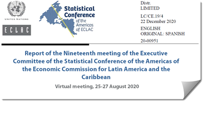 Report of the Nineteenth meeting of the Executive Committee of the Statistical Conference of the Americas of ECLAC