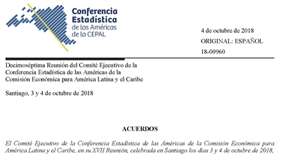 Acuerdos de la XVII reunión del Comité Ejecutivo de la CEA-CEPAL
