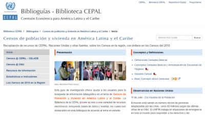 Biblioguía Censos de población y vivienda en América Latina y el Caribe