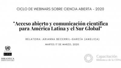 Webinar Open Access and Scholarly Communication