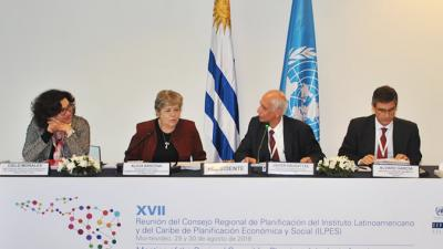 Panel de inauguración de la XVII Reunión del Consejo Regional de Planificación.