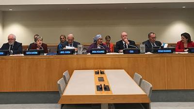 Panel del evento sobre desarrollo en transición.