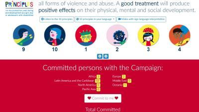 Sitio web de la campaña global para el buen trato de niñas, niños y adolescentes con discapacidad