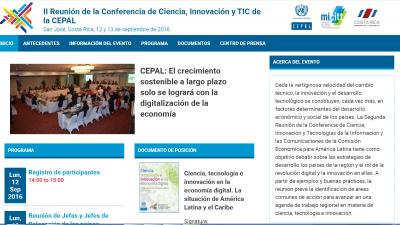 II Reunión de la Conferencia de Ciencia, Innovación y TIC de la CEPAL