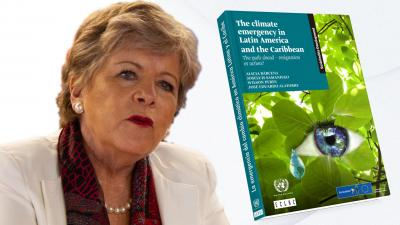 Image of Alicia Bárcena, ECLAC's Executive Secretary and the cover of the document.