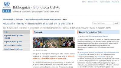Biblioguía Migración interna y distribución espacial de la población