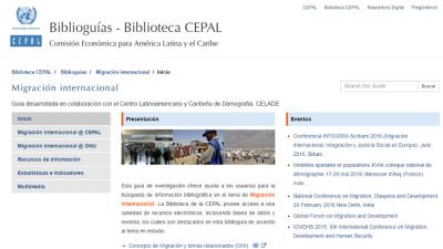 Biblioguía Migración internacional