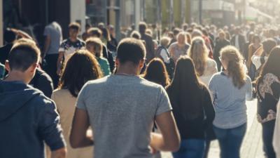 People walking.