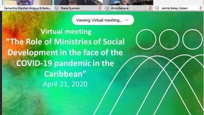 Reunión virtual sobre el rol de los Ministerios de Desarrollo Social del Caribe ante la pandemia del COVID-19