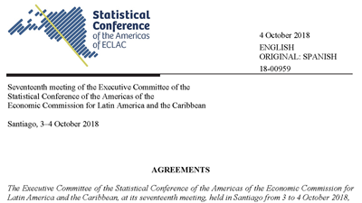 Agreements of the Seventeenth meeting of the Executive Committee of the SCA-ECLAC