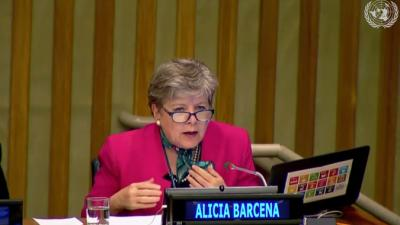 Alicia Bárcena, Secertaria Ejecutiva de la CEPAL.