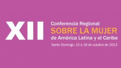 Banner XII Conferencia de la Mujer
