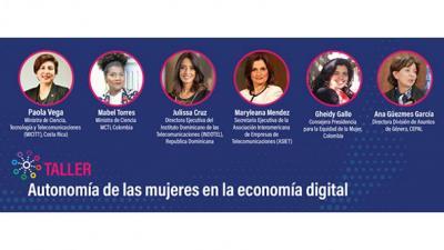Autonomía de las mujeres en la economía digital
