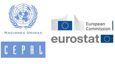 Logos de la CEPAL, European Commission y Eurostat