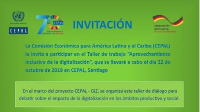 Reunión Programa CEPAL GIZ Aprovechamiento inclusivo de la digitalización