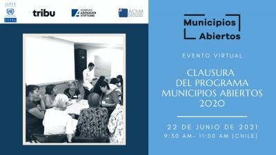 Banner de la Clausura programa Municipios abiertos 2020
