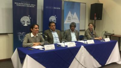 Taller de construcción del Plan Nacional de Educación y Formación Técnico-Profesional en el Ecuador