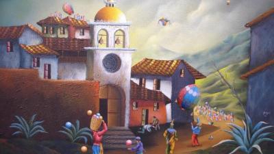 Pintura del artista ecuatoriano Marco Alquinga