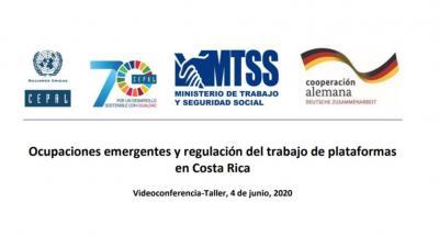 Taller Ocupaciones emergentes y regulación del trabajo de plataformas en Costa Rica
