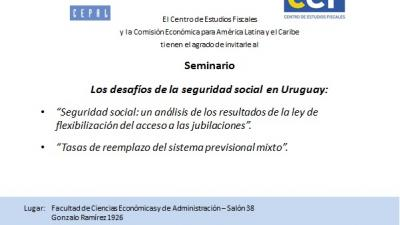 Invitación a Seminario Los desafíos de la seguridad social en Uruguay