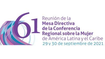 Logo 61 Mesa Directiva Conferencia de la Mujer ingles