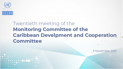 Banner of 20th Meeting of the Monitoring Committee of the CDCC