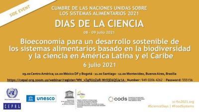 Bioeconomía para un desarrollo sostenible de los sistemas alimentarios basado en la biodiversidad y la ciencia en América Latina y el Caribe