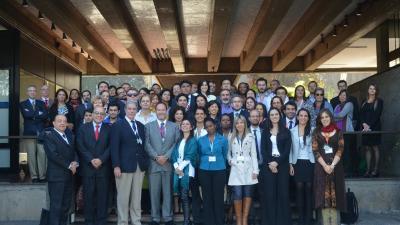Foto con los participantes de la Primera reunión del Comité de Negociación del Acuerdo Regional sobre el Acceso a la Información, la participación Pública y el Acceso a la Justicia en América Latina y el Caribe