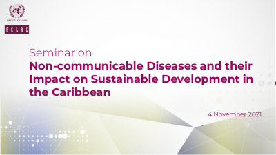 Banner for Seminar on NCDs in the Caribbean