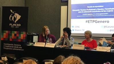 Reunión de especialistas: Educación Técnico-Profesional y Ciencia y Tecnología: claves para la autonomía económica de las mujeres