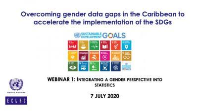 Caribbean Gender Statistics Webinar 1