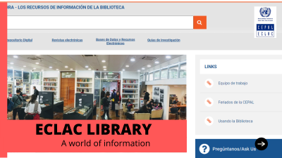 ECLAC Library Website improved and updated