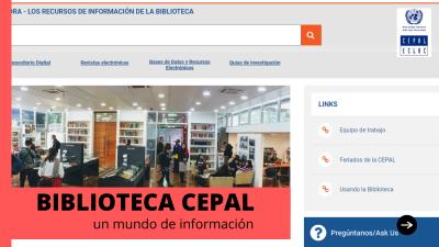 Sitio web de la Biblioteca de la CEPAL mejorado y actualizado