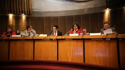 Panel inauguración seminario internacional.