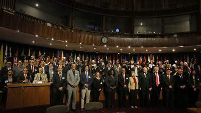 Imagen grupal de los asistentes a la reunión entre el Comité Ejecutivo de la CEA-CEPAL y UN-GGIM Américas.