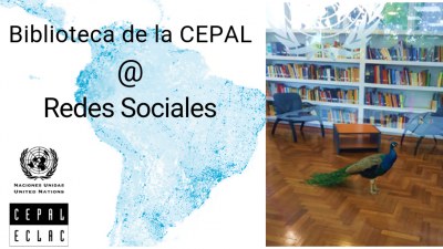 Biblioteca de la CEPAL con pavo real