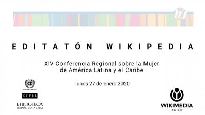 Editaton Wikipedia CRM 2020 Conferencia Regional Mujer ALC